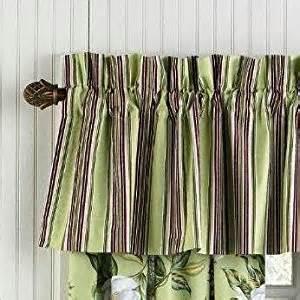 Magnolia Kitchen Curtains Magnolia Green Burgundy Striped Valance By Williamsburg Window Treatment Valances