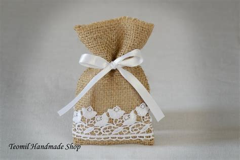 wedding favor burlap bags burlap wedding favor bags burlap gift bags rustic by teomil