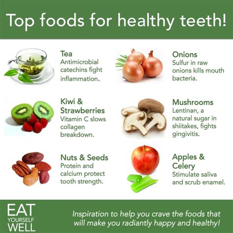 top foods for healthy teeth