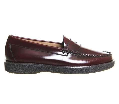 crepe sole loafers lyst g h bass co crepe sole loafers in purple