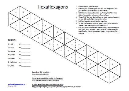 hexa flexagon template the best letter sle