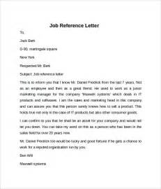 job reference letter 7 free samples examples amp formats