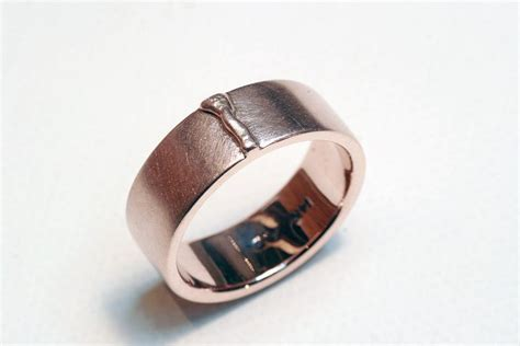 Custom Weld Bead Wedding Ring by Cooperman Jewelry