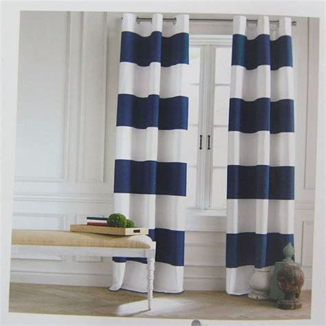 striped curtains canada blue and white striped curtains canada curtain