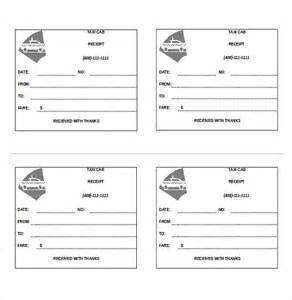 blank taxi receipt template taxi receipt template 12 free word excel pdf format