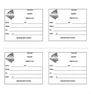 Taxi Receipt Template by Taxi Receipt Template 12 Free Word Excel Pdf Format