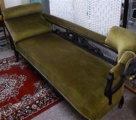 edwardian chaise lounge edwardian chaise lounge in green velvet antiques atlas