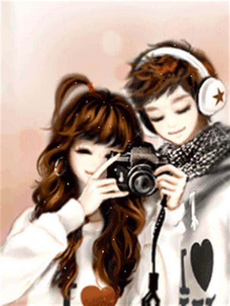 wallpaper kartun korea romantis gambar kartun korea sweet korean cartoon planet cinta