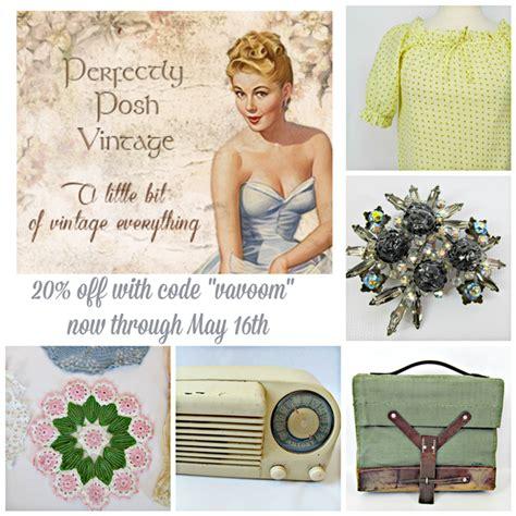 Posh Vintage by Shop Talk April Va Voom Vintage Vintage Fashion Hair