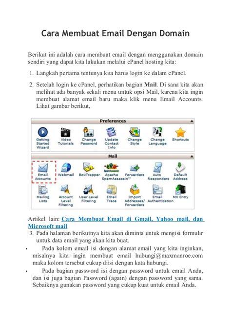 cara membuat email domain perusahaan cara membuat email dengan domain