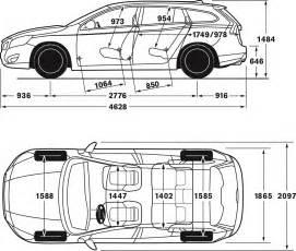 Volvo S40 Width Dimension Sketch Volvo V60 Volvo Car Global Media