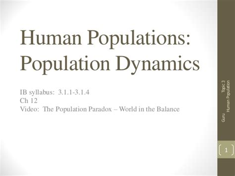 3 1 human population dynamics notes
