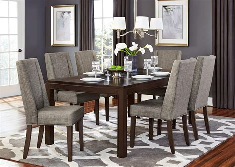 brown dining set 7 homelegance kavanaugh dining set brown finish