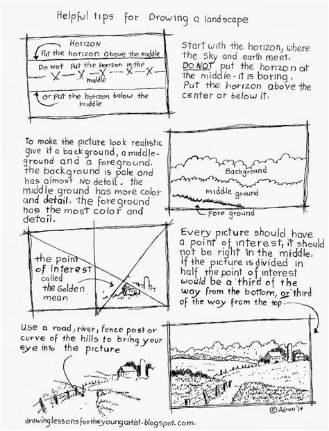 Drawing Y Mx C Worksheet by Tips For Drawing A Landscape Worksheet See More At My