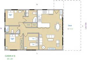 3 bedroom cabin floor plans cabin 8 kee nee moo sha on lake cass county