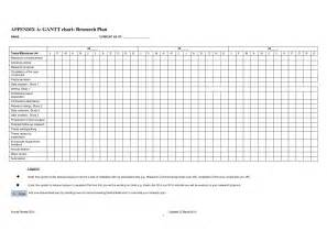 Gantt Chart Template For Research 4 best images of blank gantt chart template printable