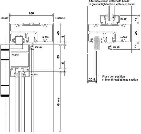 Sliding Door Detail by Kestrel Aluminium Manual Sliding Folding Doors Supplied