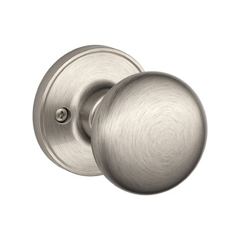 lowes interior door knobs shop schlage j stratus satin nickel dummy door knob at