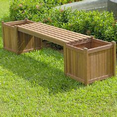 garden box bench 1000 ideas about planter bench on pinterest deck