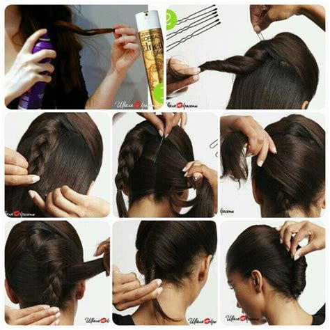 howtodo a twist in thefringe step by step french twist hairstyle step by step b g fashion