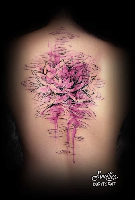 purple lotus tattoo purple lotus i like the coloring effects he black