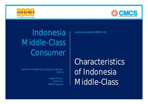 indonesia characteristics characteristics of indonesia middle class consumer the 8