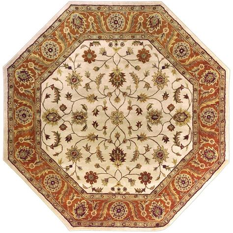 Octagon Kitchen Rug Artistic Weavers Morsse Golden Beige Wool 8 Ft Octagon Area Rug Morsse 8oct The Home Depot