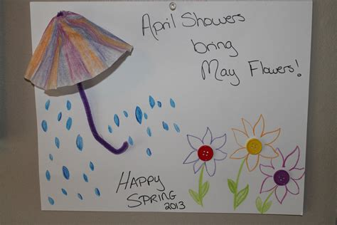 april crafts for april showers bring may flowers momeefriendsli