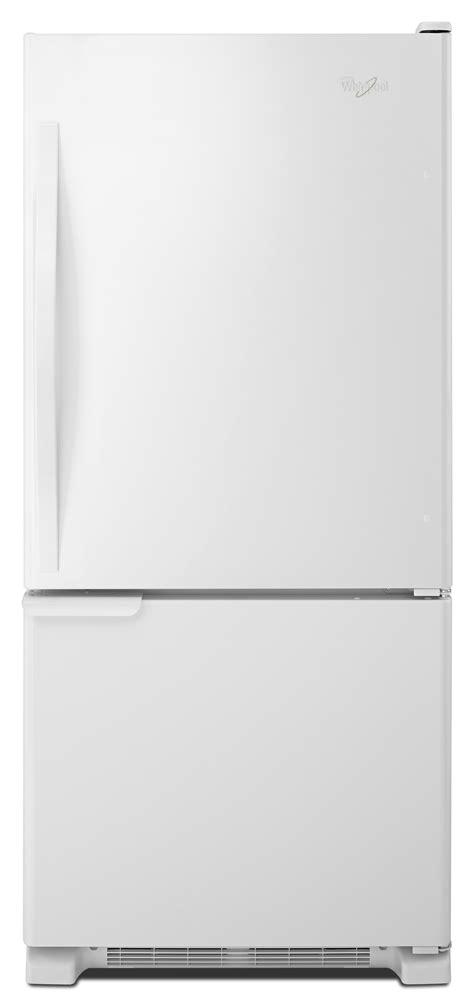 Single Door Refrigerator With Bottom Drawer Freezer by Whirlpool Wrb119wfbw 19 Cu Ft Single Door Bottom