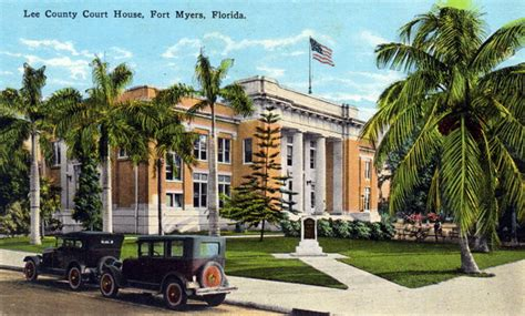Fort Myers Court Records Florida Memory County Court House Fort Myers Florida