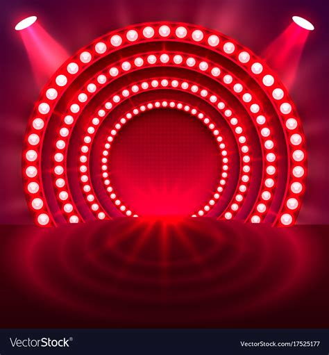 show background show light podium background royalty free vector image