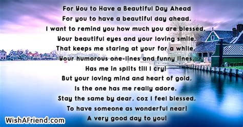 beautiful day  good day poem