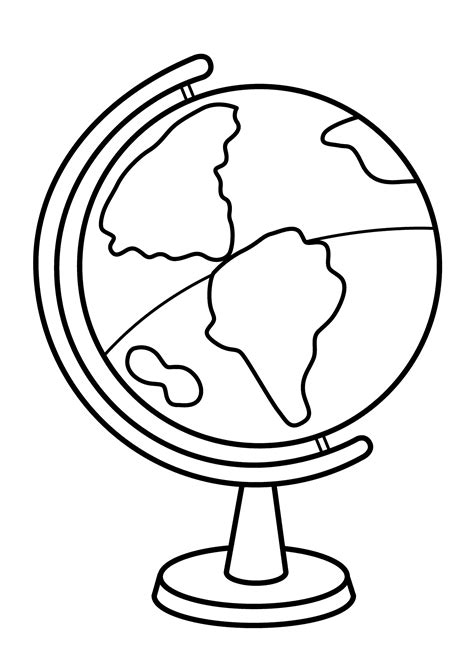 coloring page of a globe coloring pages globe high quality loving printable