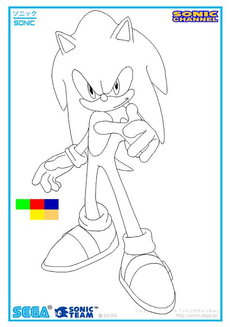 sonic 2006 channel coloring page by sonicxfan2012 on