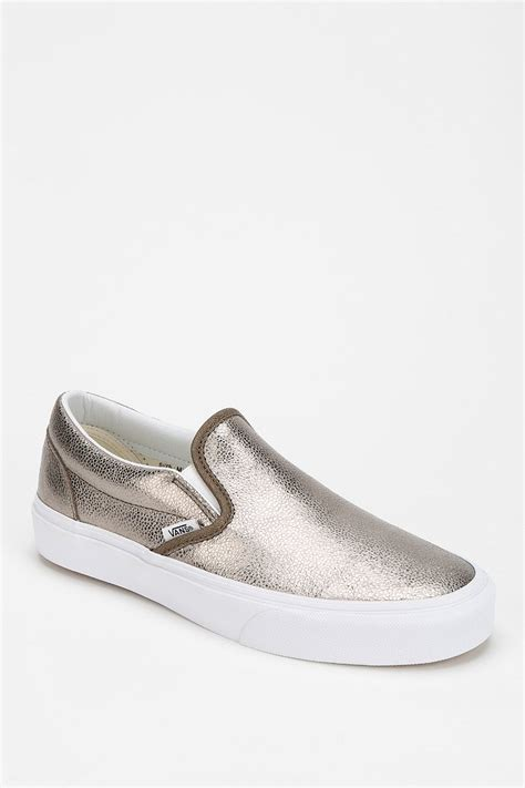 womens sneaker vans metallic slip on s sneaker in metallic lyst