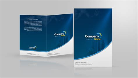 design leaflet in photoshop design a two fold brochure in photoshop youtube