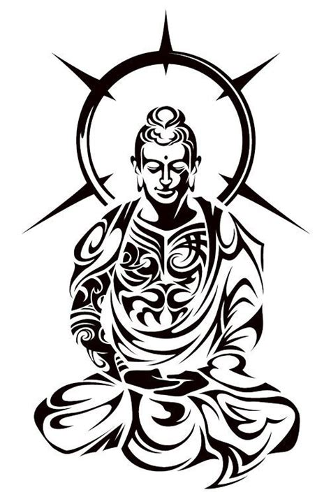50 best zen tattoo designs collection of 25 buddha outline design