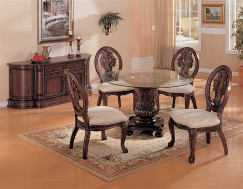 glass dining room table set coaster fine furniture 101030 cb48rd 101032 tabitha round