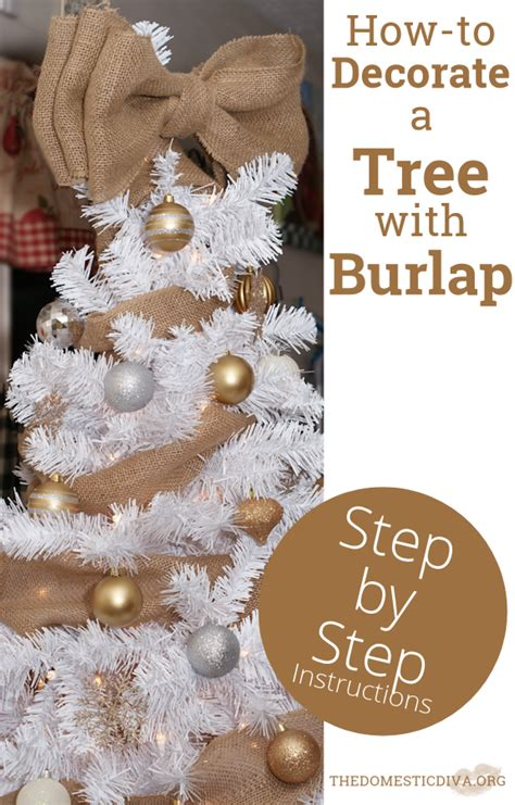 how to decorate a pink tree how to decorate a white tree with burlap step