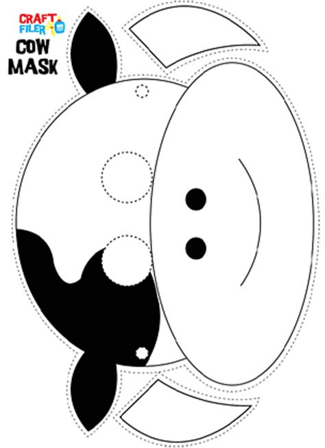 pattern white bandit mask farm cow mask pattern google search pinteres
