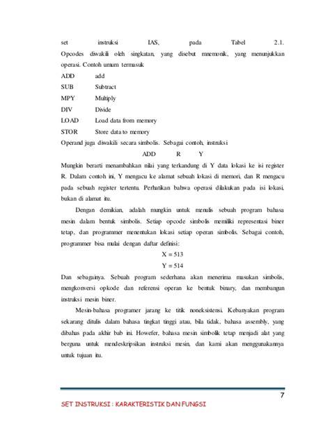 Makalah Format Instruksi | makalah set instruksi