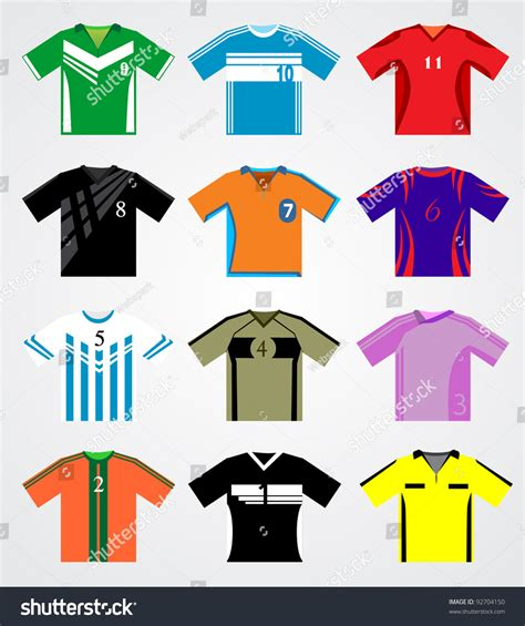 web desain jersey soccer jersey set stock vector illustration 92704150