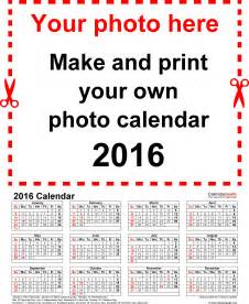 Whole Year Calendar Template by Photo Calendar 2016 Free Printable Excel Templates