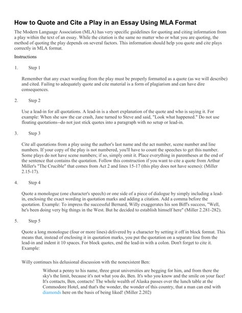 how to write a play in a paper how to put quotes in an essay from a play open essay