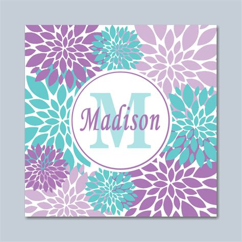 teal wall decor purple teal wall lavender teal floral wall lavender