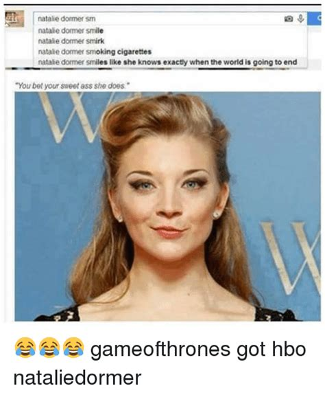 natalie dormer smirk natalie dormer memes of 2016 on sizzle german