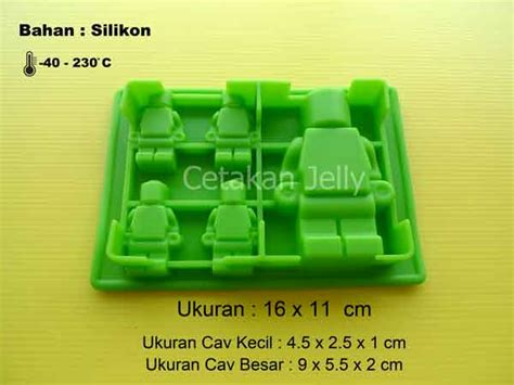 Cetakan Karakter Lego cetakan silikon coklat puding mini figure 5 cavity