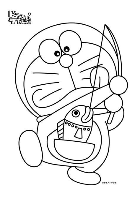 Gambar Mewarnai Kartun Doraemon dan Teman-teman - Kreasi Warna