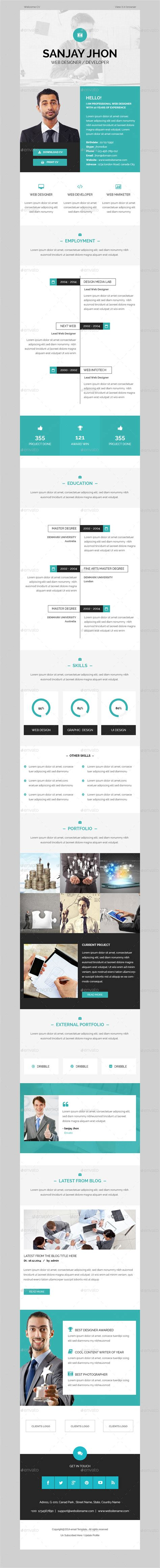 Envato Email Templates by Cv Email Template By Kalanidhithemes Graphicriver
