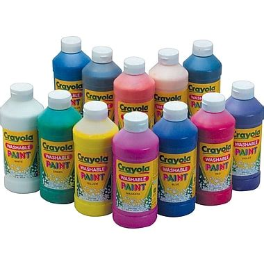acrylic paint is it washable crayola 174 washable paint 16oz yellow staples 174